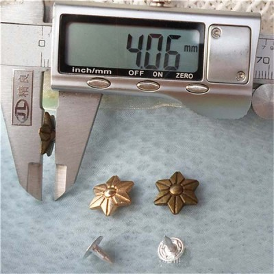 K128 Flowers Alloy Rivets 13x4mm 100pcs/bag