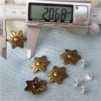 K129 Flowers Alloy Rivets 21x4mm 100pcs/bag