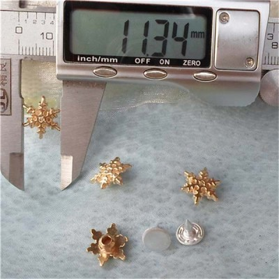 K132 Flowers Alloy Rivets 14x4mm 100pcs/bag