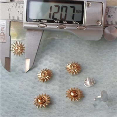 K133 Flowers Alloy Rivets 12x4.5mm 100pcs/bag