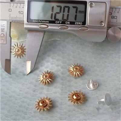 K133 Flowers Alloy Rivets 12x4.5mm 100pcs/bag