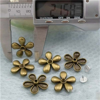 K156 Flowers alloy rivets 22x5mm 100pcs/bag
