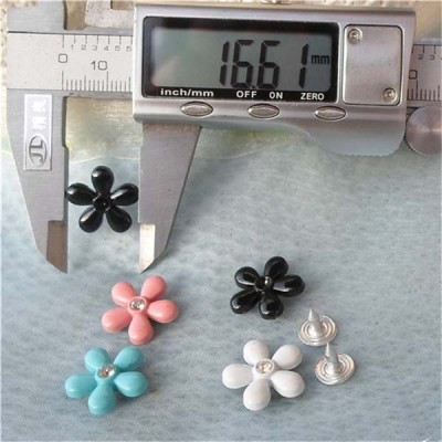 K157 Flowers Alloy Rivets 16.5x4mm 100pcs/bag