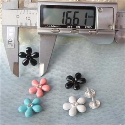 K157 Flowers Alloy Rivets 16.5x4mm 100pcs/bag