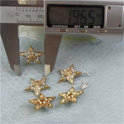 K159 Pentagram Alloy Rivets 20x5mm 100pcs/bag