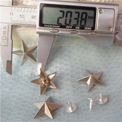 K170 Pentagram Alloy Rivets 21x7mm 100pcs/bag