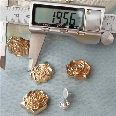 K172 Flowers Alloy Rivets 20x4mm 100pcs/bag