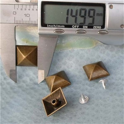 K175 Pyramid Mongolian Yurt Alloy Rivets 15mm 100pcs/bag