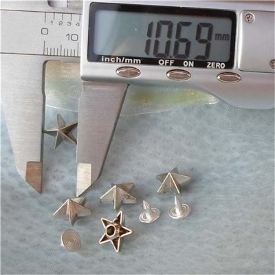 K176 Pentagram Alloy Rivets 11x7mm 100pcs/bag