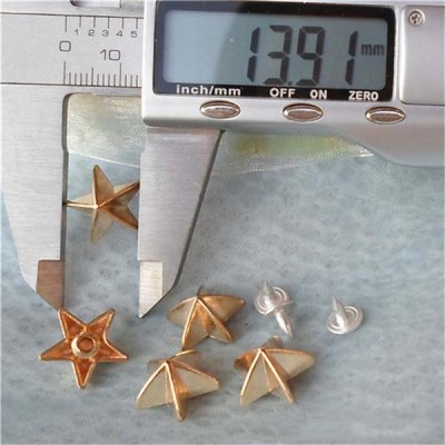 K177 Pentagram Alloy Rivets 14.5x8mm 100pcs/bag