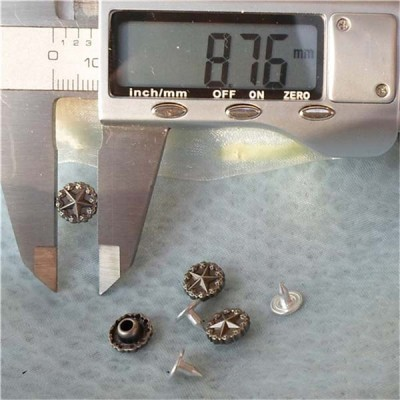 K178 Pentagram Alloy Rivets 9x4mm 100pcs/bag