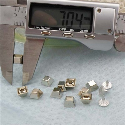 K185 Trapezoid Alloy Rivets 7x4mm 100pcs/bag