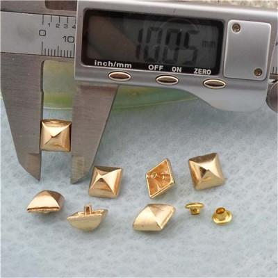 K188 Pyramid Mongolian Yurt Alloy Rivets 10mm 100pcs/bag