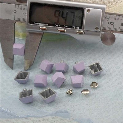 K189 Trapezoid Rivets For Leather 9.5x9.5mm 100pcs/bag