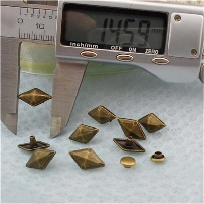 XK190 Pyramid Alloy Rivets 14.6mm 100pcs/bag