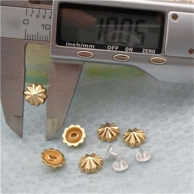 K202 Flowers Alloy Rivets 10x4mm 100pcs/bag