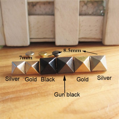 XK204 Pyramid Alloy Rivets 8.5x9mm 100pcs/bag
