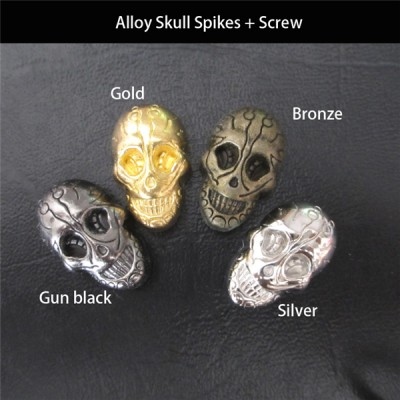 NO63 Skull Screw Back 15x21mm 100pcs/bag