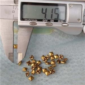 T001 Pyramid Rivets(iron/brass)4mm 1000pcs/bag