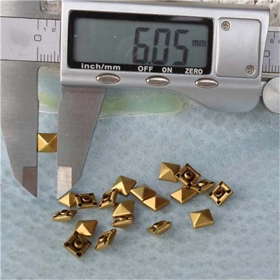 T003 Pyramid Rivets(iron/brass)6mm 1000pcs/bag