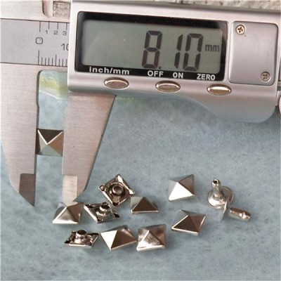 T005 Pyramid Rivets(iron/brass)8mm 1000pcs/bag