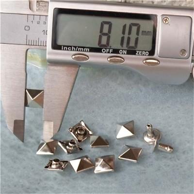 T005 Pyramid Rivets(iron/brass)8mm 1000pcs/bag