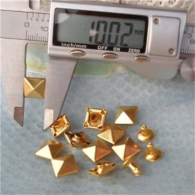 T007 Pyramid Rivets(iron/brass)10mm 1000pcs/bag