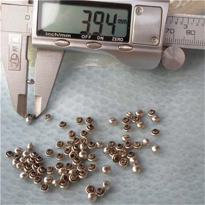 T010 Mushrooms Semicircle Rivets(iron/brass) 4x3mm 1000pcs/bag