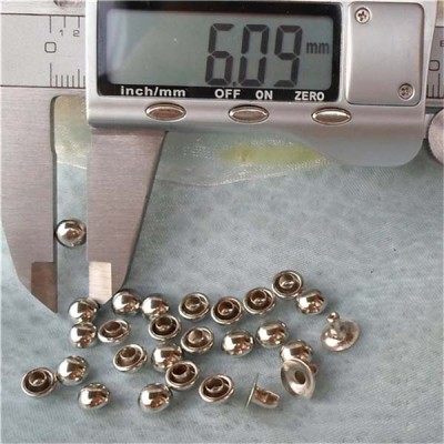 T012 Custom Domed Rivets(iron/brass) 6x4mm 1000pcs/bag