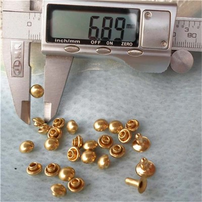 T013 Dome Rivets(iron/brass) 7x5mm 1000pcs/bag