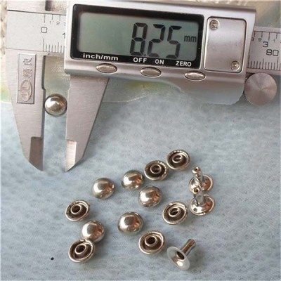T014 Dome Rivets(iron/brass) 8x4mm 1000pcs/bag