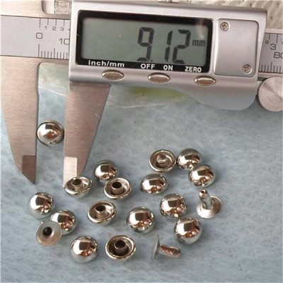 T015 Dome Rivets(iron/brass) 9x5.5mm 1000pcs/bag