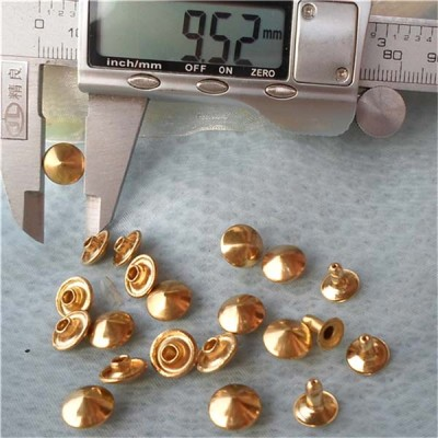 T022 Cone Rivets( iron/brass) 9.5x5mm 1000pcs/bag