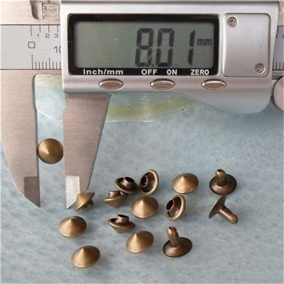 T030 Brass Cone Rivets( iron/brass) 8x5mm 1000pcs/bag