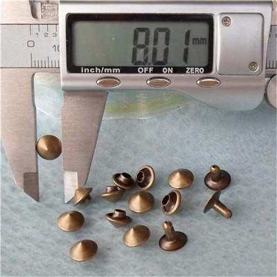 T030 Brass Cone Rivets( iron/brass) 8x5mm 1000pcs/bag