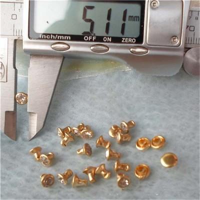 T050 Rhinestone Rivets(iron/brass) 5x5.5mm 1000pcs/bag