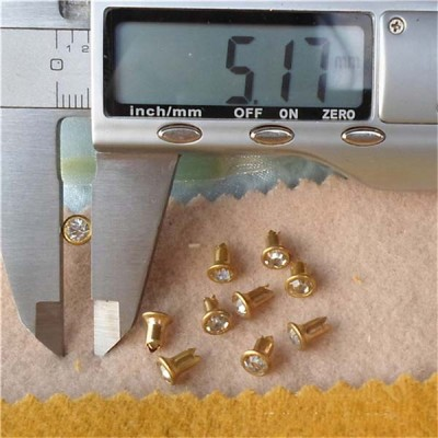 T0507 Rhinestone Rivets(iron/brass) 5mm 1000pcs/bag