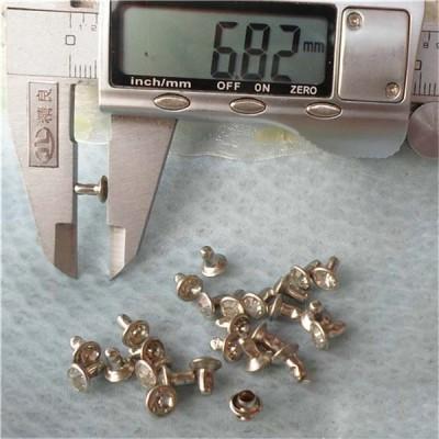 T051 Rhinestone Rivets(iron/brass) 6mm 1000pcs/bag