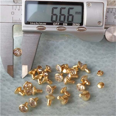 T052 Rhinestone Rivets(iron/brass) 7mm 1000pcs/bag