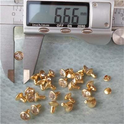 T052 Rhinestone Rivets(iron/brass) 7mm 1000pcs/bag