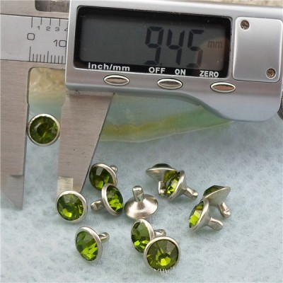 T054 Rhinestone Rivets(iron/brass) 9.5mm 1000pcs/bag
