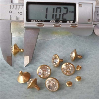T055 Rhinestone Rivets(iron/brass) 12mm 1000pcs/bag