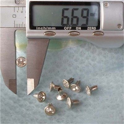 T056 Rhinestone B Diamond Rivets(iron/brass) 7mm 1000pcs/bag