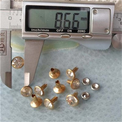 T058 Rhinestone Rivets(iron/brass) 9mm 1000pcs/bag