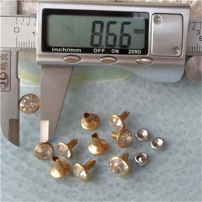 T058 Rhinestone Rivets(iron/brass) 9mm 1000pcs/bag