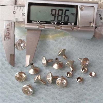 T059 Custom Rhinestone Rivets 10mm 1000pcs/bag