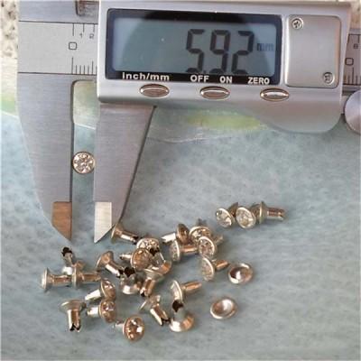 T0607 Rhinestone Rivets For Leather 6mm 1000pcs/bag