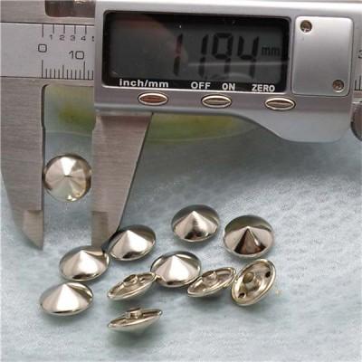 T061 Cone Rivets( iron/brass) 12x6mm 100pcs/bag