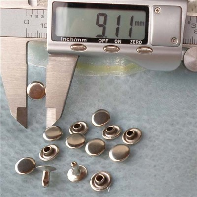T0903 Flat Rivets(iron/brass) 9mm 1000pcs/bag