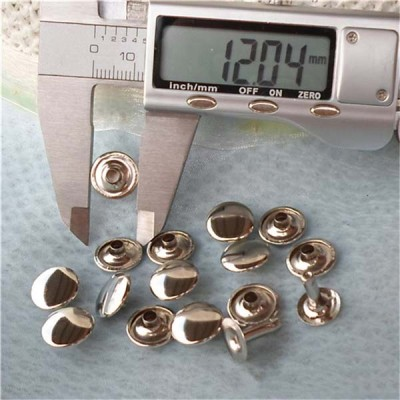 T1205 Flat Rivets(iron/brass) 12mm 1000pcs/bag